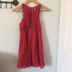 Sexy red free people dress